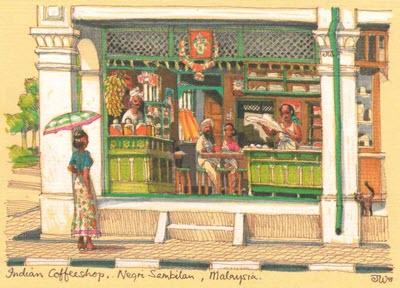 British India postcards